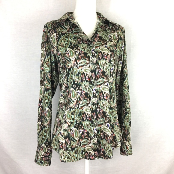 2005e2b5f5923 Etro Tops - Etro Paisley Print Long Sleeve Button Front Blouse